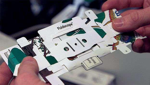 Foldscope microscopio de papel